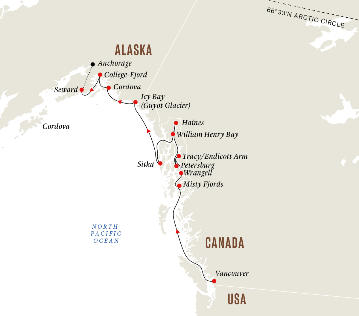 Alaska and British Columbia - Wilderness, Glaciers and Culture (Northbound)