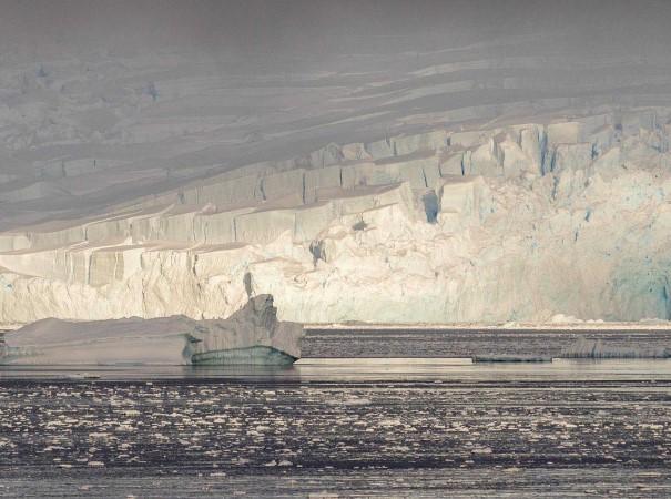 Magic landscape of icebergs and glaciers in Gerlache Strait.
