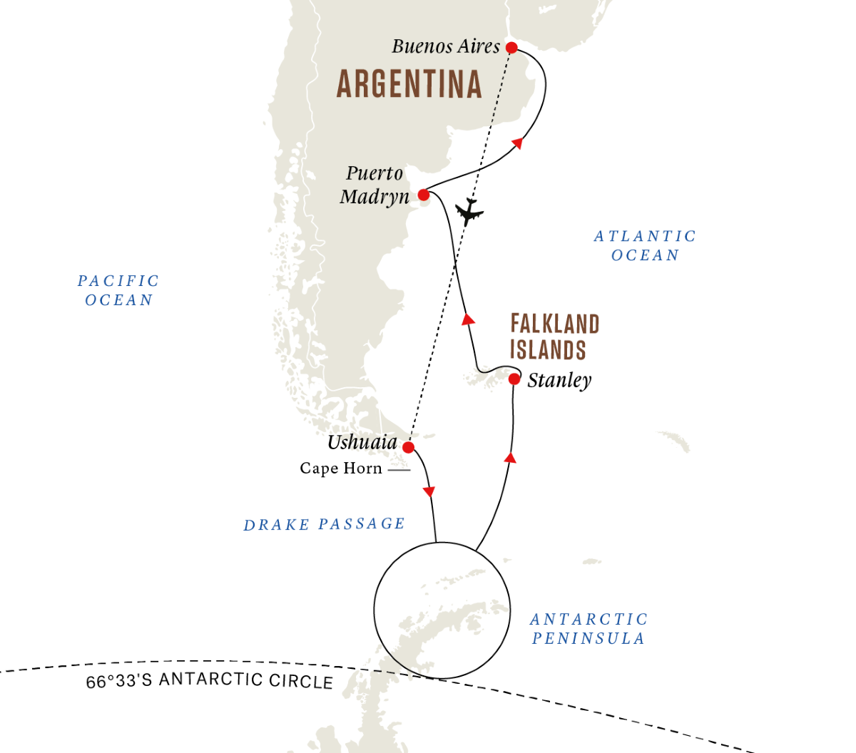 All inclusive - Antarctica and Falklands - Southern Hemisphere Adventure