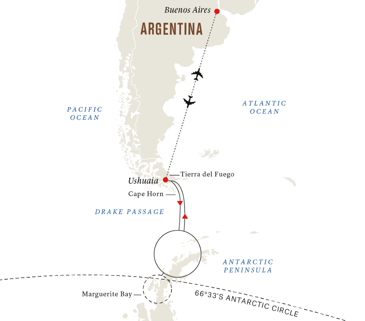 All-inclusive Antarctic Circle Expedition