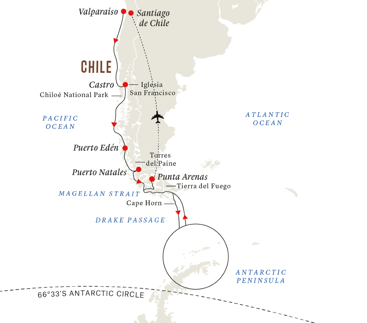 All-inclusive In-depth Antarctica & Patagonia Expedition (Southbound)