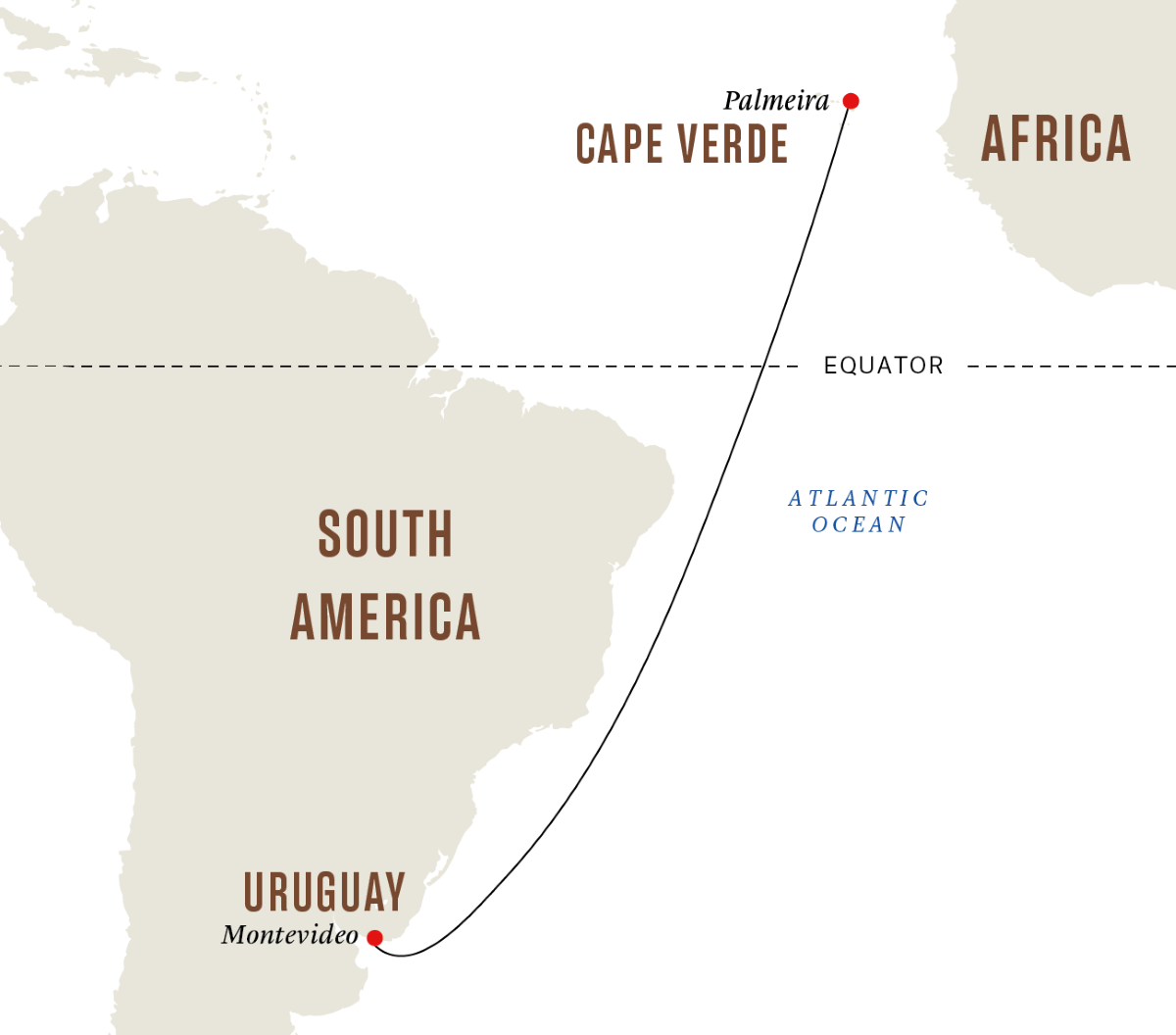 From Montevideo to Cape Verde