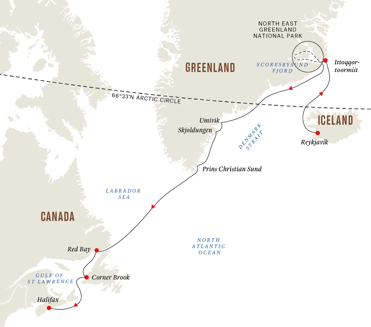 Greenland and Atlantic Canada - The Ultimate Fjord and National Park Expedition (Itinerary 2)