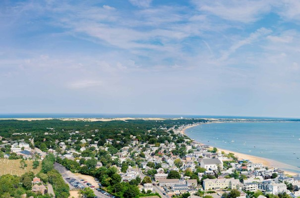 View of Provincetown from Pilgrim Monument