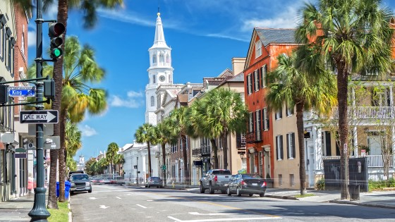 Visit the charming streets of Charleston.