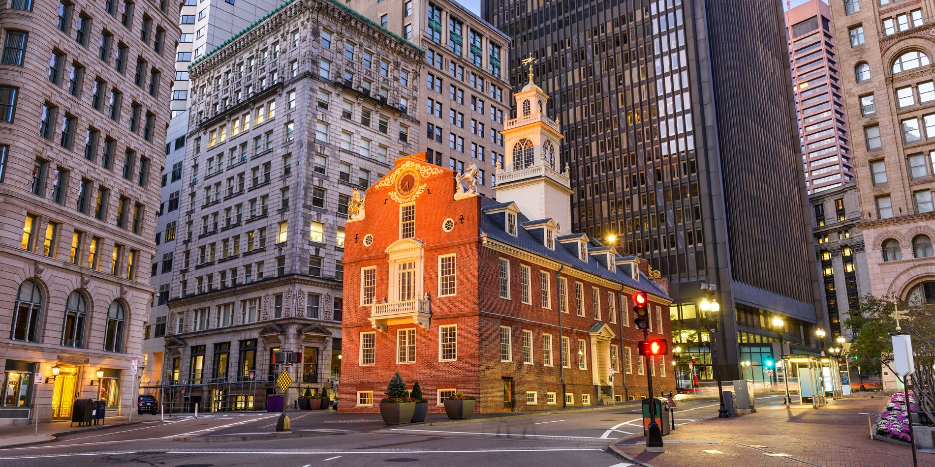 Visit the Old State House in downtown Boston.