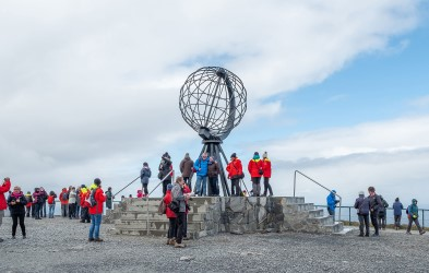 Stand at the edge of the world atop North Cape.