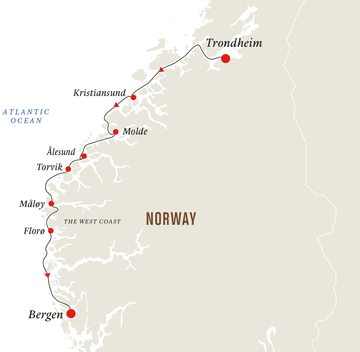 Norway: Trondheim to Bergen