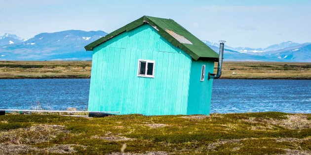 A small wooden house from the gold rush era, Nome