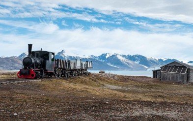 Coal train in Ny Ålesund, Svalbard