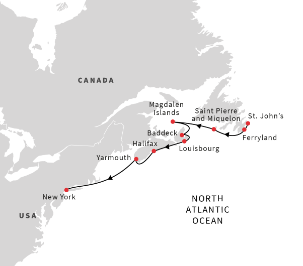 Cruise Canada\'s East Coast from St. John\'s to New York City ...