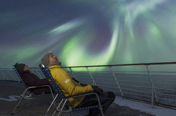 Catch the Northern Lights from deck