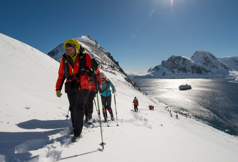 Hike in Orne Harbor, Antarctica