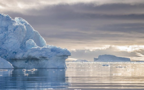 The icebergs of Neko Harbour, Antarctica