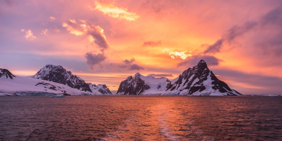 Sunset in the Lemaire Channel, Antarctica