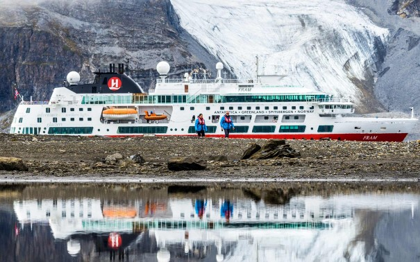 MS Fram in Svalbard