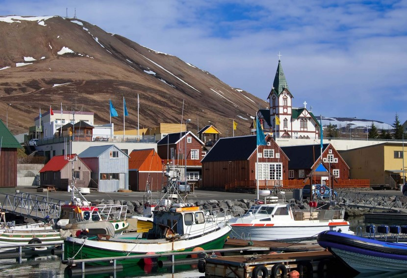 The quiet village of Husavik, Iceland