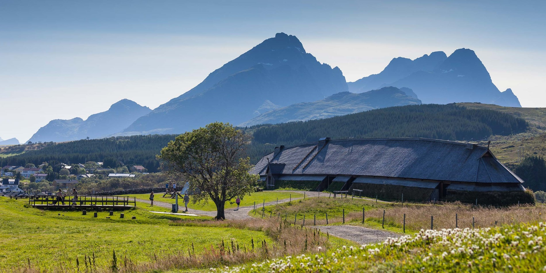 Join a Viking feast in the impressive reconstructed Viking longhouse at Borg in Lofoten