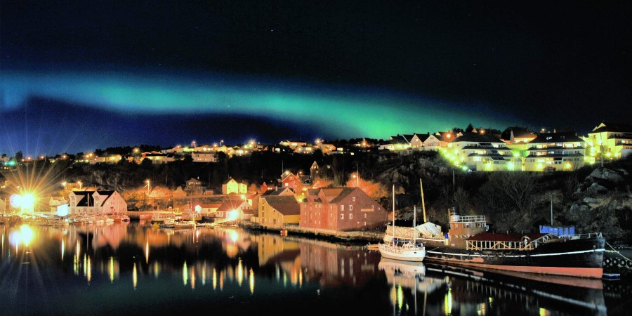 Northern Lights over Kristiansund, Norway