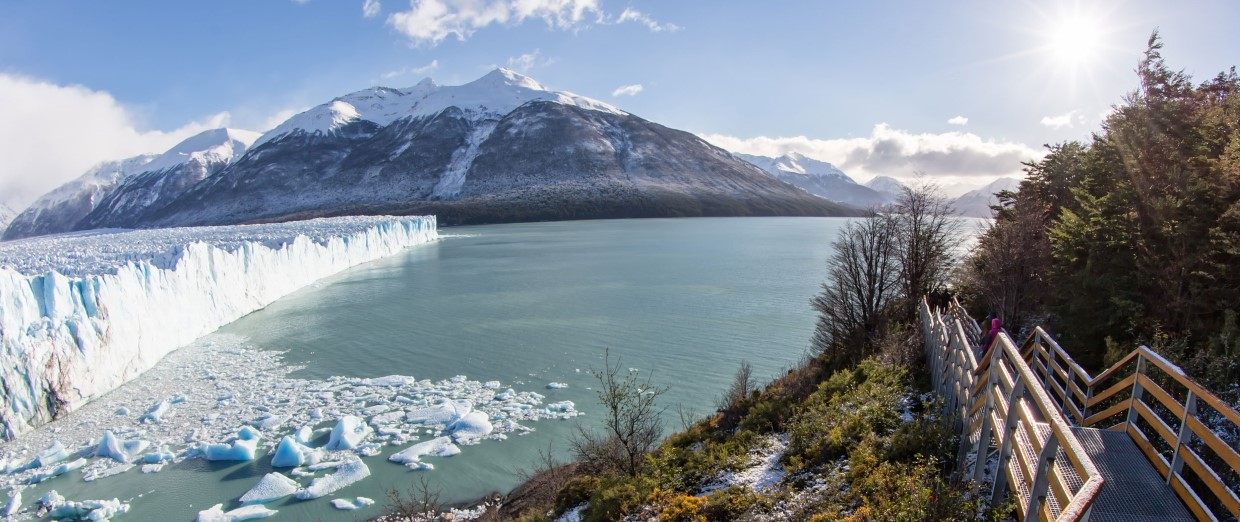 El Calfate National park and the Perito Moreno glacier