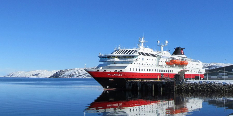 MS Polarlys at the port of Kirkenes